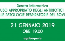 Serata Informativa: Uso appropriato degli antibiotici nelle patologie respiratorie del bovino | 21 Gennaio 2019 ore 19.00